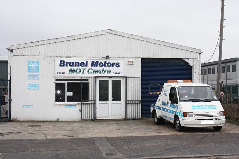 Outside of Brunel Motors MOTT Station