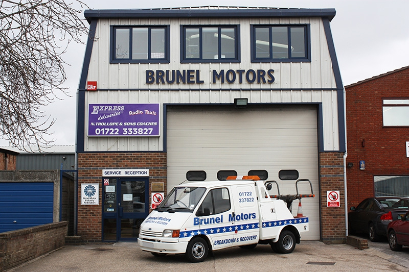 Outside of Brunel Motors Main Building