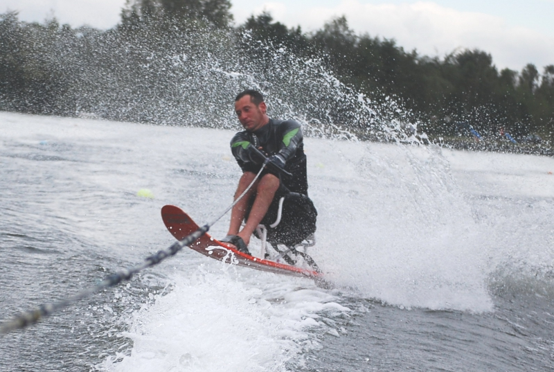 Andy from Brunel Motors Qualifing for the World Disabled Waterski Championships