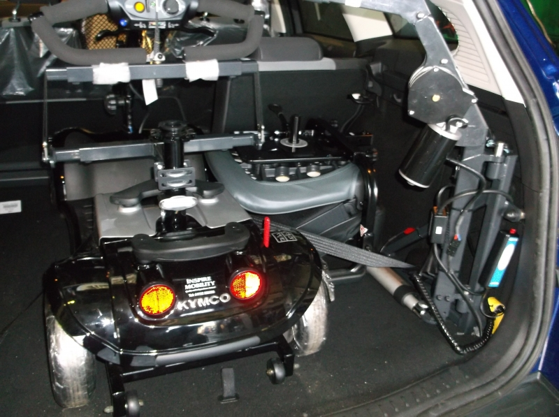 Autochair mini hoist fitted in a 2014 Ford Focus (seat removal required)